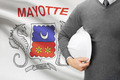 Engineer with flag on background - Mayotte - PhotoDune Item for Sale