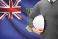Engineer with flag on background - British Virgin Islands - PhotoDune Item for Sale
