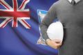 Engineer with flag on background - Falkland Islands - PhotoDune Item for Sale
