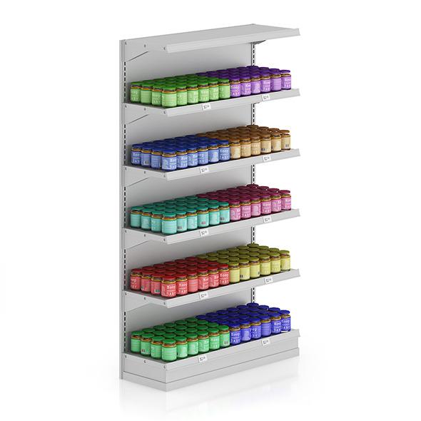 Market Shelf - Baby food - 3DOcean Item for Sale