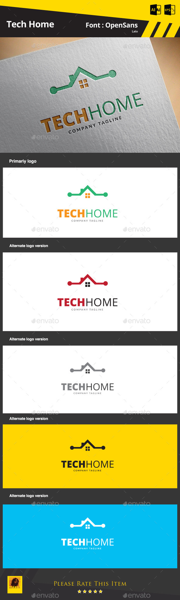 GraphicRiver Tech Home Logo Template 9265236