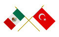 Flags of Turkey and Mexico, 3d Render, Isolated on White - PhotoDune Item for Sale