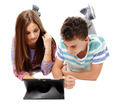 Teenagers using a tablet - PhotoDune Item for Sale