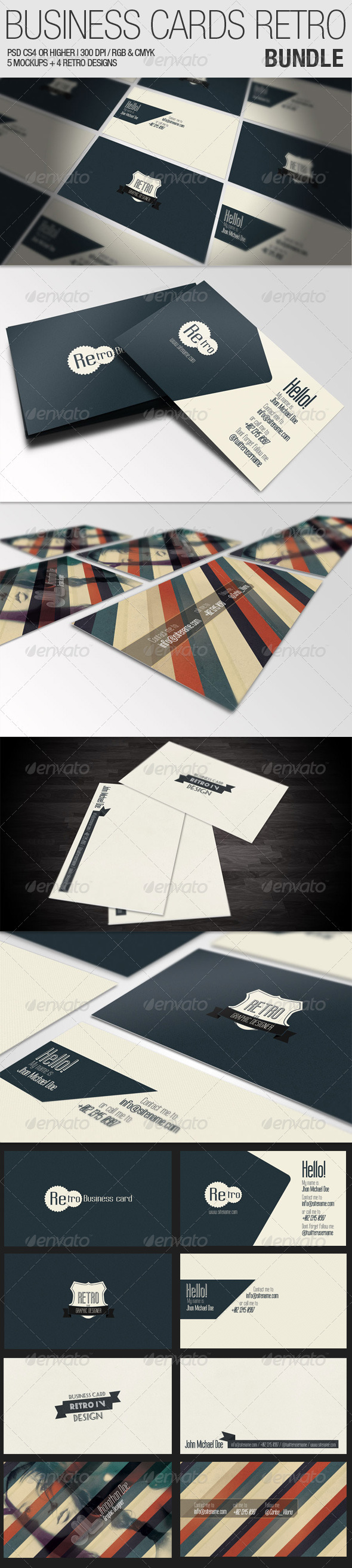 Business Cards Retro Bundle