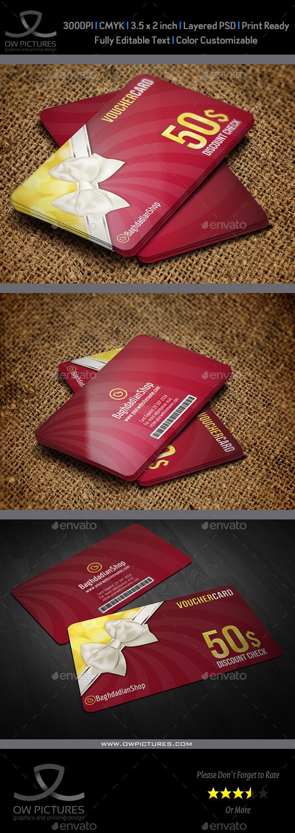 GraphicRiver Gift Voucher Card Template Vol 14 9265842