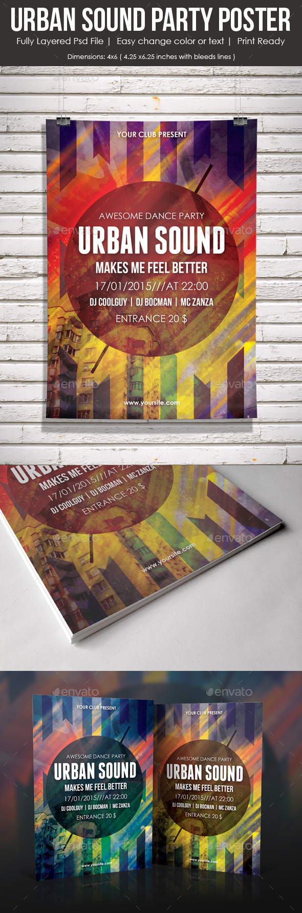 GraphicRiver Urban Sound Party Poster 9265932