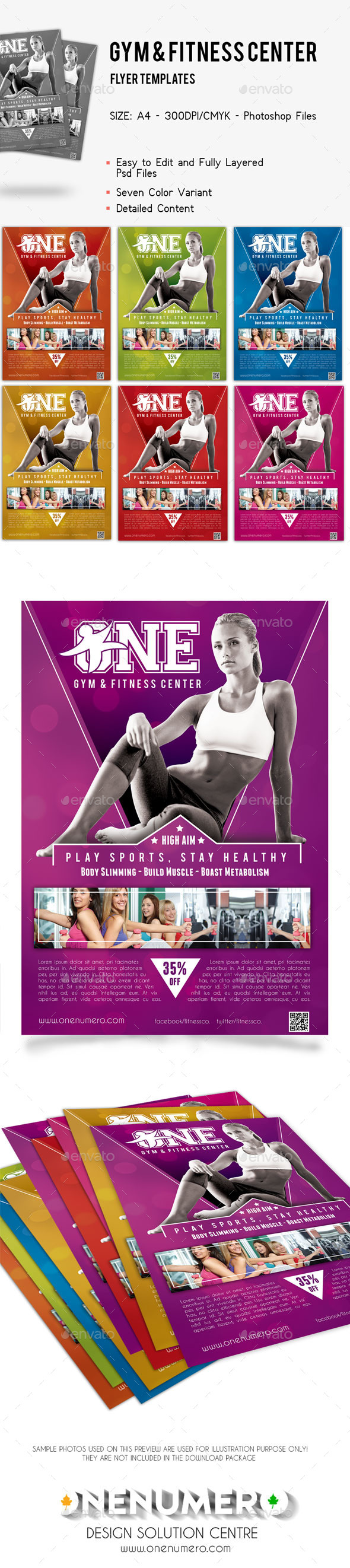 GraphicRiver Gym Fitness Center Flyer Template 9265968