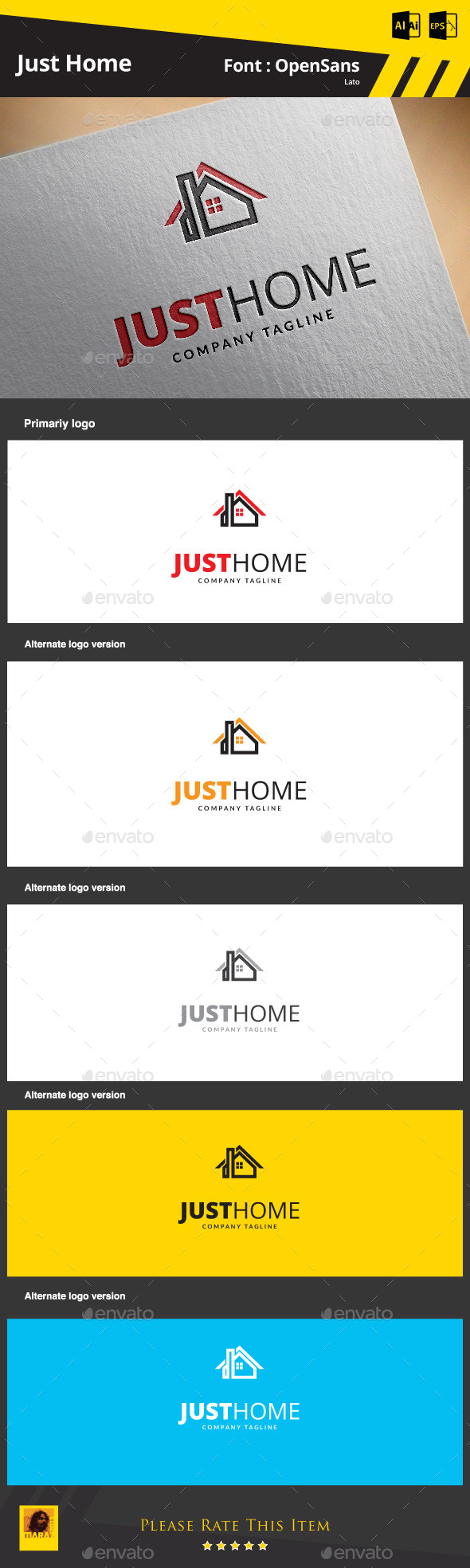 Just Home Logo Template