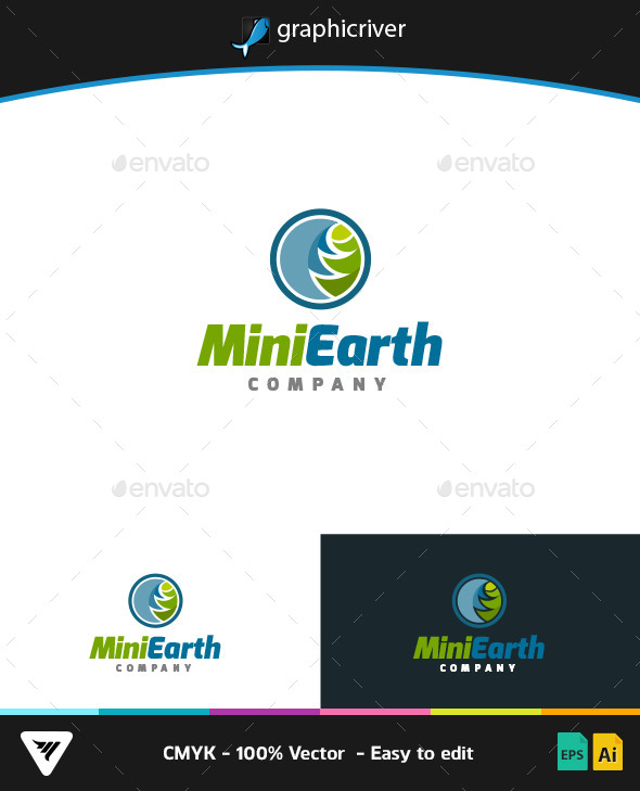 GraphicRiver Mini Earth Logo 9266035
