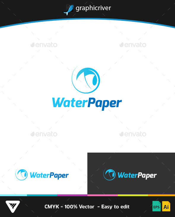 GraphicRiver Water Paper Logo 9266646