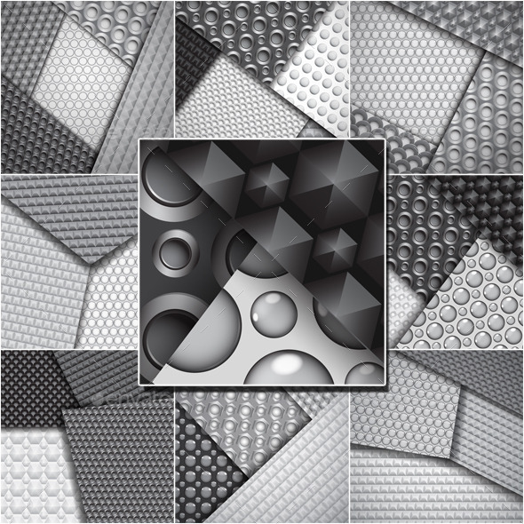 GraphicRiver Backgrounds of Seamless Carbon Fiber Patterns 9266654