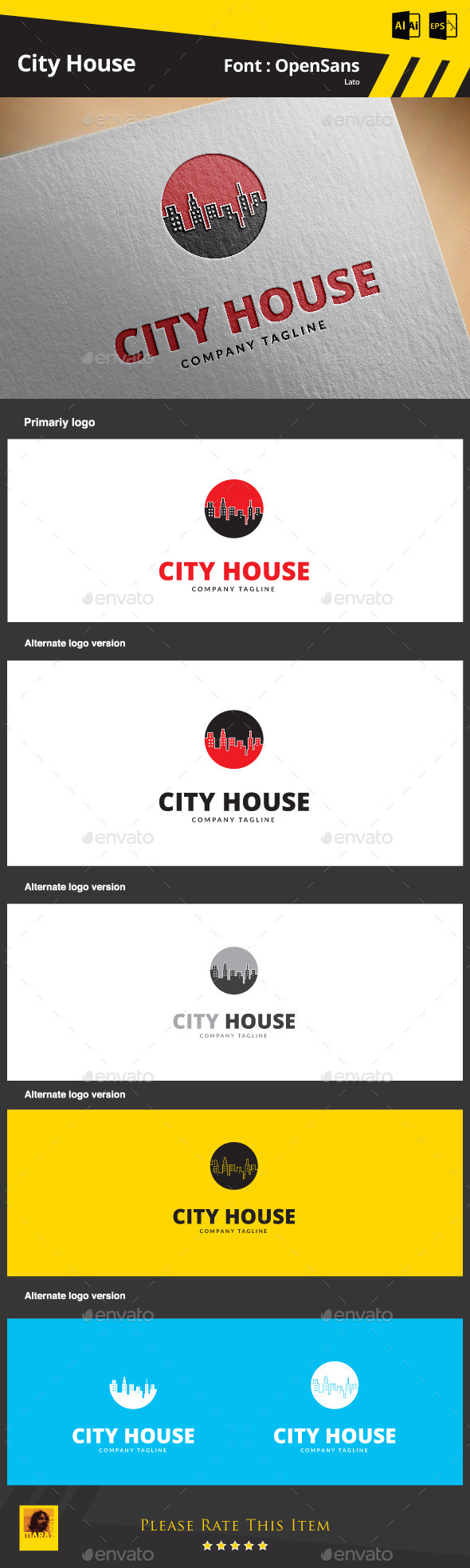 GraphicRiver City House 9266661