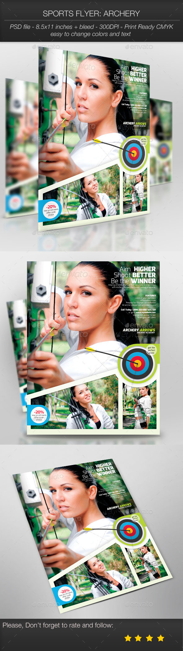 GraphicRiver Sports Flyer Archery 9266929