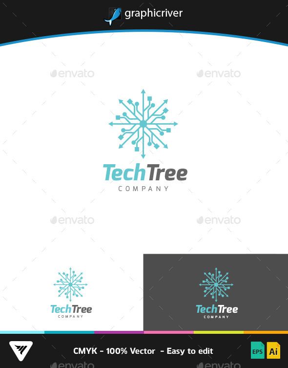 GraphicRiver TechTree Logo 9267125