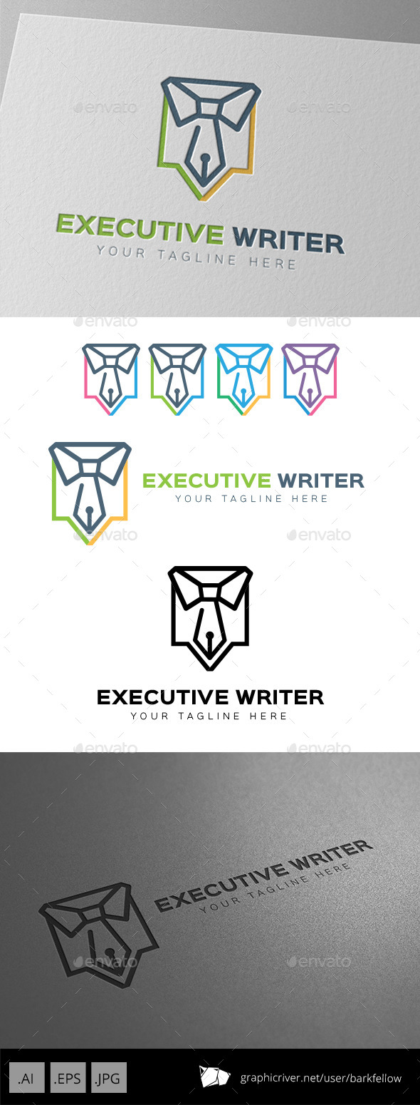 GraphicRiver Executive Writer Logo Template 9267149