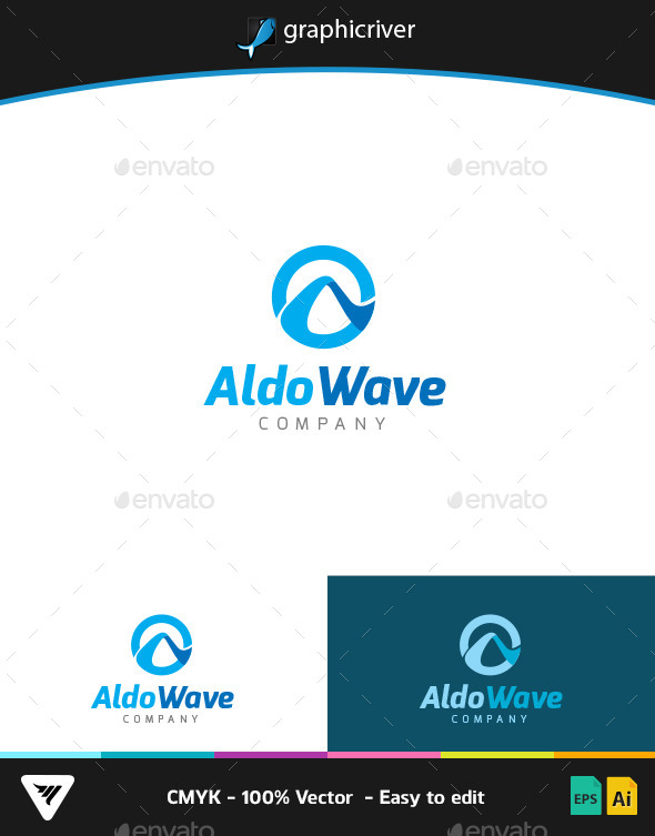 GraphicRiver Aldo Wave Logo 9267157