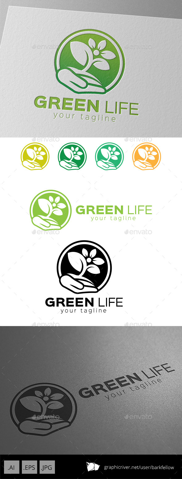 GraphicRiver Save Green Life Logo 9267159