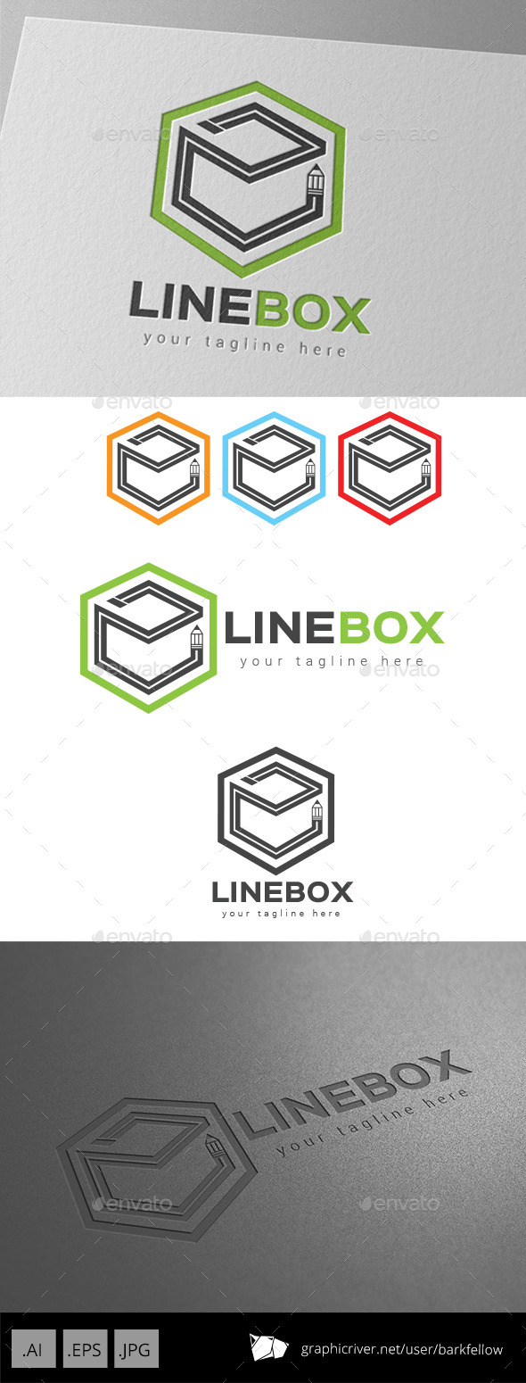 GraphicRiver Line Box Art Logo 9267212