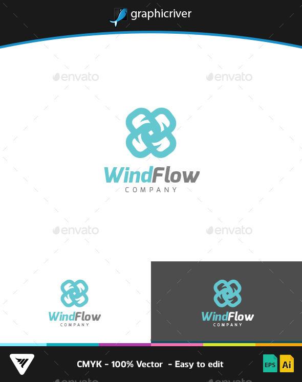 GraphicRiver WindFlow Logo 9267229