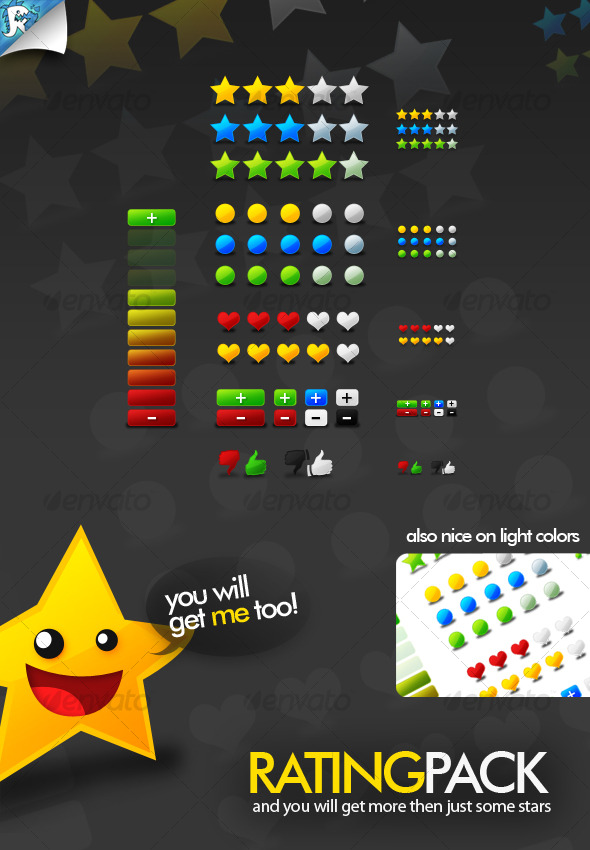 Rate Pack - Stars and More - Web Elements
