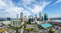 Aerial view of Charlotte North Carolina skyline - PhotoDune Item for Sale
