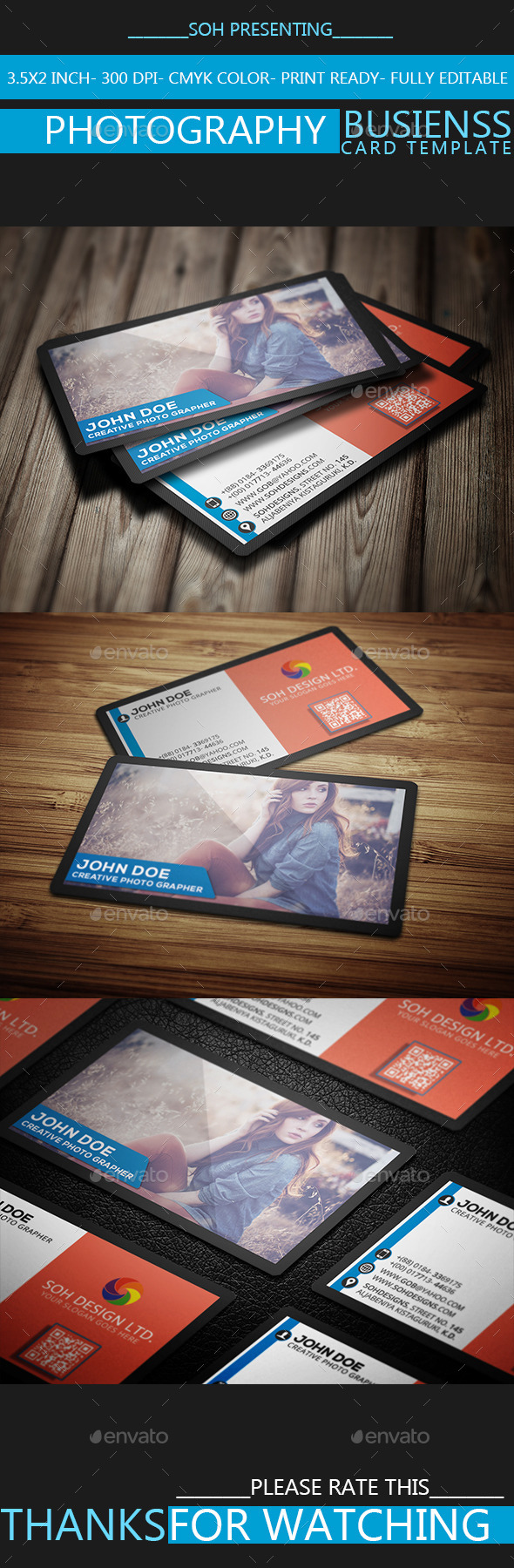 GraphicRiver Photography Business Card Template Vol.35 9267484