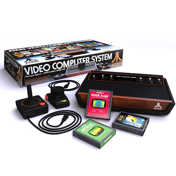 Atari 2600 Bundle Complete - 3DOcean Item for Sale