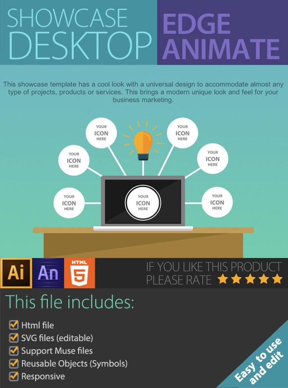 CodeCanyon Showcase Desktop Edge Animate 9267677