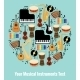 Assorted Musical Instruments Design with Text Area - GraphicRiver Item for Sale