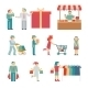 Vector Shopping Characters - GraphicRiver Item for Sale