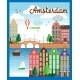 Vector Nice Amsterdam City Background - GraphicRiver Item for Sale