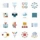 Flat Filtering Data Icons - GraphicRiver Item for Sale