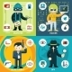 Vector Espionage and Criminal Activity Graphics - GraphicRiver Item for Sale