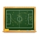 Blackboard showing a schematic plan for football - GraphicRiver Item for Sale
