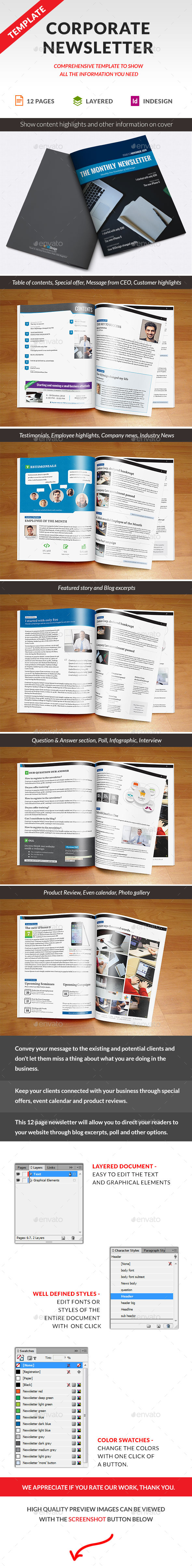 GraphicRiver Corporate Newsletter Indesign Template 9220216