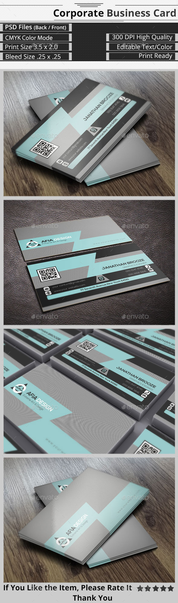 GraphicRiver Clean & Creative Corporate Business Card 9268018