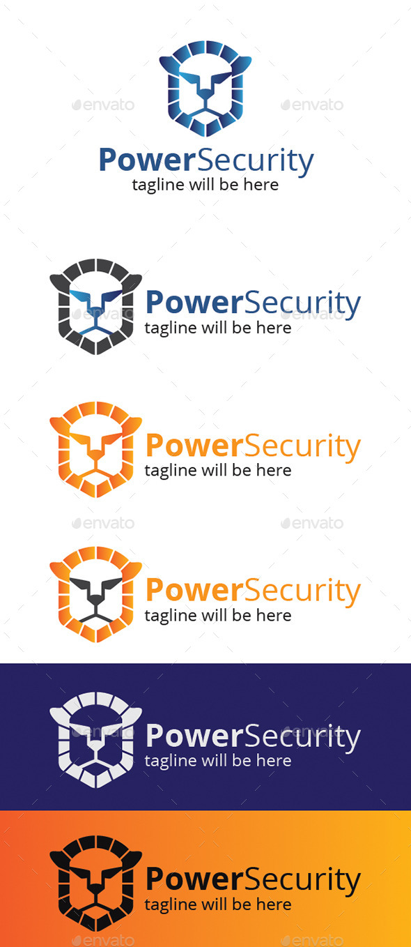 GraphicRiver Power Security Logo 9268048