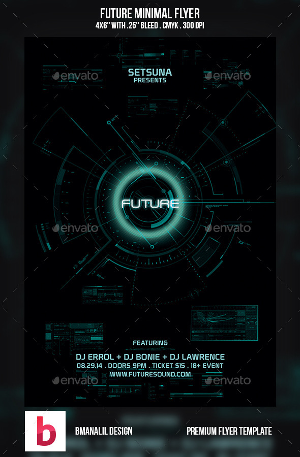 GraphicRiver Future Minimal Flyer 9268147
