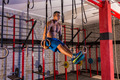 dip ring girl man muscle ups rings workout - PhotoDune Item for Sale