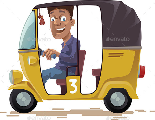 GraphicRiver Asian Rickshaw 9268170