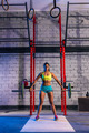Barbell weight lifting woman weightlifting at gym - PhotoDune Item for Sale