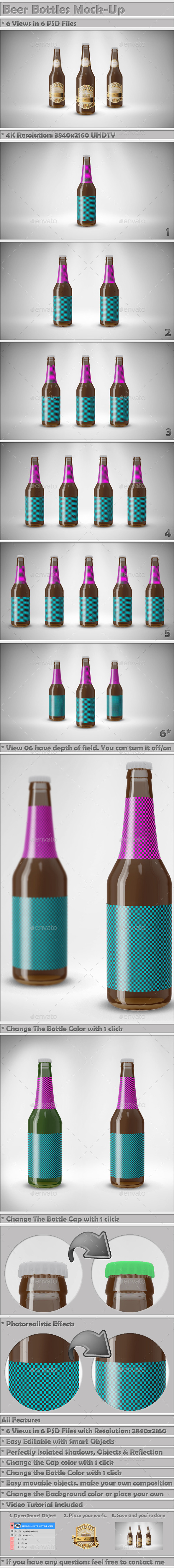 GraphicRiver Beer Bottle Mock-Up 9268264