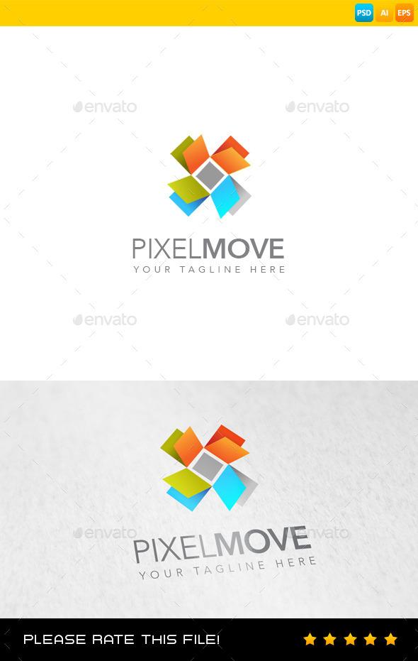 GraphicRiver Pixel Logo 9268253