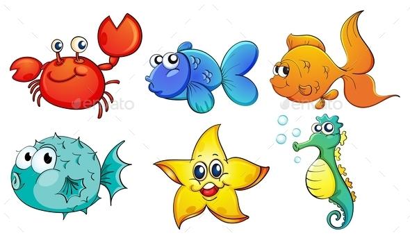 GraphicRiver Sea Creatures 9268759