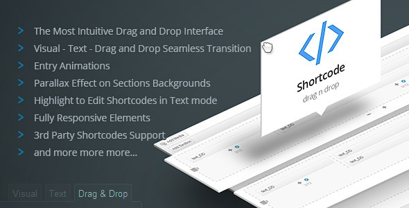 Drag and Drop Shortcodes WP Visual Page Builder