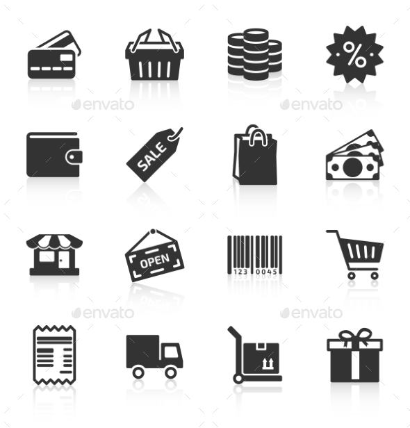 GraphicRiver Set of Shopping Icons 9268862
