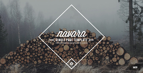 ThemeForest Navara WordPress Single Page Theme 9222583