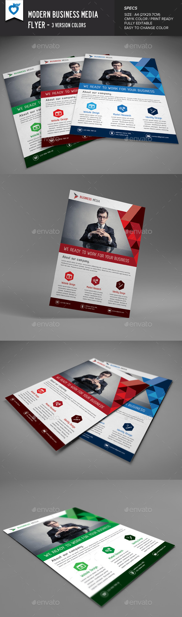 GraphicRiver Modern Business Media Flyer 9268982