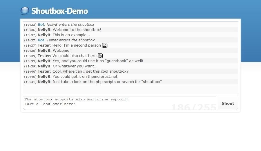Shoutbox Kommunikationsplugin Last War Das Abenteuer