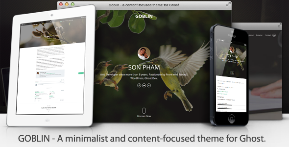 Goblin - Minimalist & Content-Focused Theme - Ghost Themes Blogging